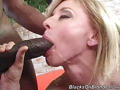 Cumshot Interracial Porn - blacks on blondes - Madison Young