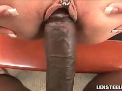 Thick Black Dick Attacks White Pussy 4