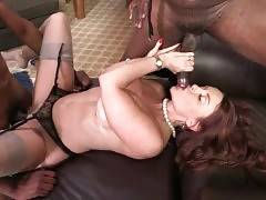 Janet Mason Has Fun With Black Man And His Son 3